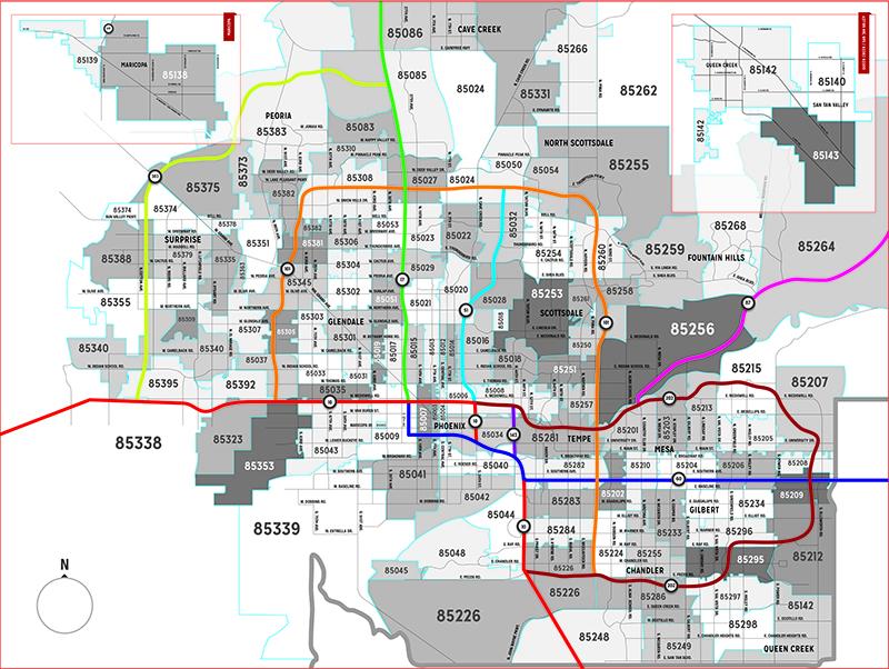 Arizona Zip Code Map - Arizona Mortgage Lender | The HOUSE ...
